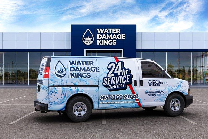 Water Damage Kings Office Building